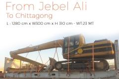 Jebel Ali to Chittagong