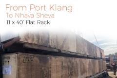 Port kelang to Nhava Shiva